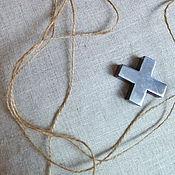 Для дома и интерьера ручной работы. Ярмарка Мастеров - ручная работа Подушки из льна Крестики-нолики. Handmade.