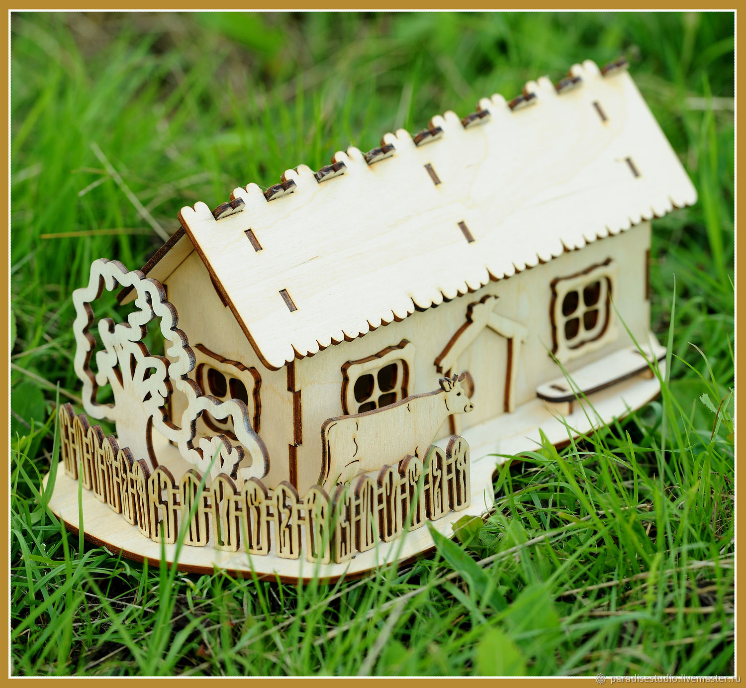 Tea house 'a house in the village', Blanks for decoupage and painting, Kotlas,  Фото №1