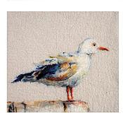 Картины и панно ручной работы. Ярмарка Мастеров - ручная работа Чайка. Handmade.