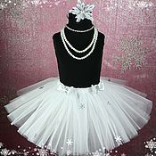 Работы для детей, handmade. Livemaster - original item Christmas puffy skirt with a Hoop snowflake. Handmade.