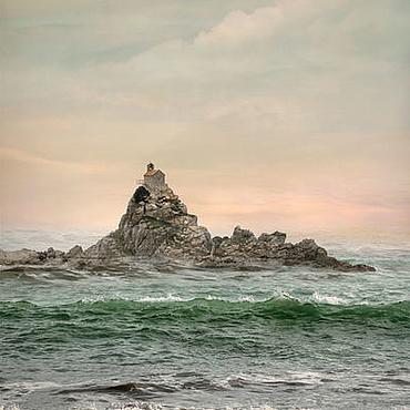 Картины и панно ручной работы. Ярмарка Мастеров - ручная работа Море Авторская фотокартина, Морской пейзаж «Долгое плавание», зеленое. Handmade.