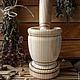 Кухня ручной работы. Деревянная ступка с пестиком.. Golden LES-магия деревянной резьбы (goldenles). Ярмарка Мастеров. Заготовка