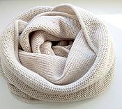 Аксессуары ручной работы. Ярмарка Мастеров - ручная работа шарф-снуд кашемир-меринос. Handmade.