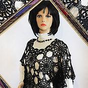 Одежда handmade. Livemaster - original item Knitted black tunic crochet Summer night.. Handmade.