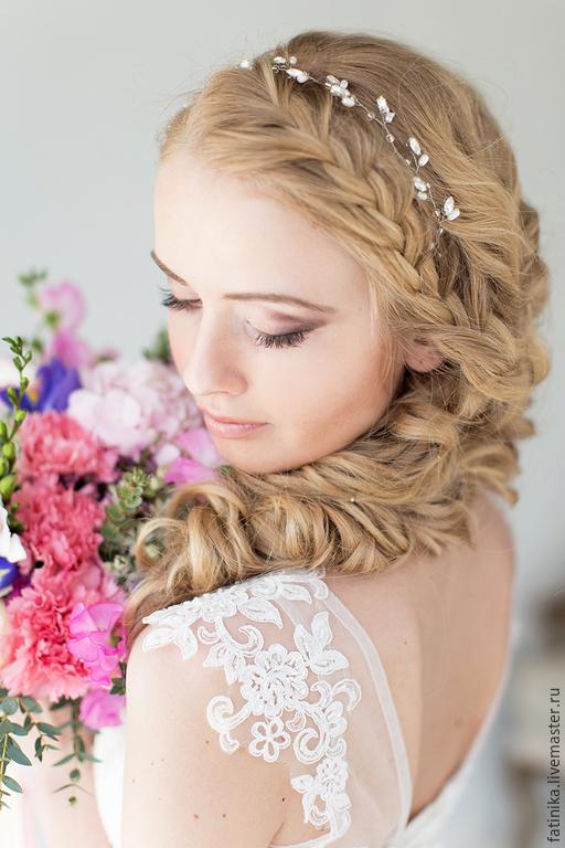 Украшения на прическу невесты фото