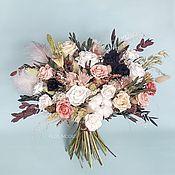 Букеты ручной работы. Ярмарка Мастеров - ручная работа Букеты: Интерьерный букет из стабилизированных цветов и сухоцветов. Handmade.