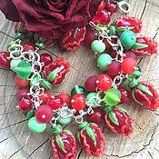 """Украшения ручной работы. Ярмарка Мастеров - ручная работа Браслет """"Алые розы"""". Handmade."""