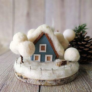 Для дома и интерьера ручной работы. Ярмарка Мастеров - ручная работа Зимний домик. Handmade.