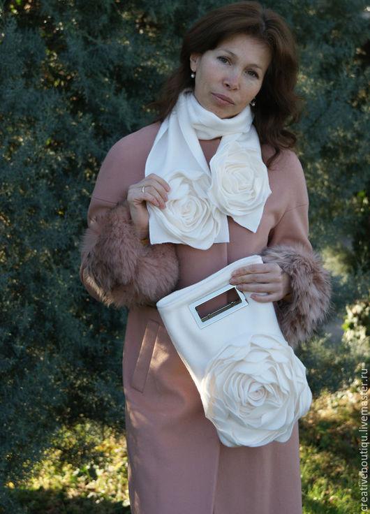 Верхняя одежда ручной работы. Ярмарка Мастеров - ручная работа. Купить Красивое пальто, для особенной женщины!. Handmade. Кремовый