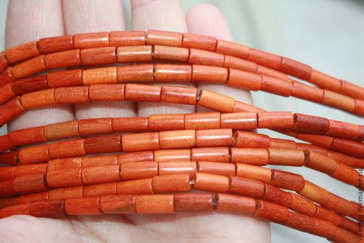 Для украшений ручной работы. Ярмарка Мастеров - ручная работа. Купить Красное дерево, цилиндры 10 мм. Handmade.
