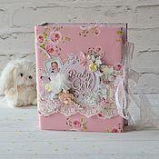 Подарок новорожденному ручной работы. Ярмарка Мастеров - ручная работа Альбом для девочки. Handmade.