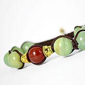 Украшения handmade. Livemaster - original item Shamballa bracelet with onyx and carnelian. Handmade.