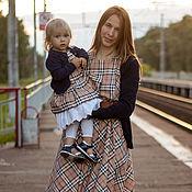 Платья ручной работы. Ярмарка Мастеров - ручная работа Платья: Комплект платьев для мамы и дочки. Handmade.