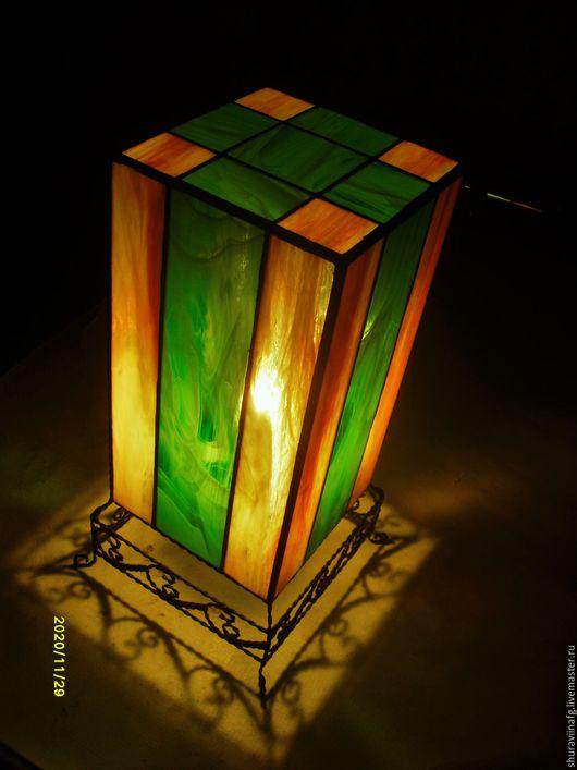Освещение ручной работы. Ярмарка Мастеров - ручная работа. Купить Светильник в технике Тиффани.. Handmade. Комбинированный, светильник, скань
