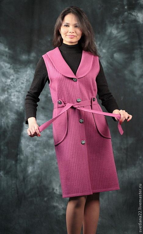 "Knitted sun-dress ""Color of fuschia"", Sundresses, Pavlodar,  Фото №1"