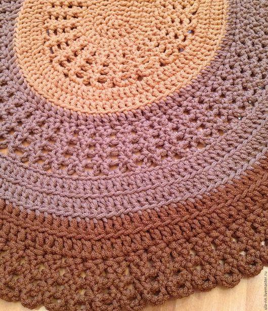 """Текстиль, ковры ручной работы. Ярмарка Мастеров - ручная работа. Купить """"Три шоколадных вкуса"""" - Вязаный Овальный ковер. Handmade."""