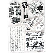 Штампы ручной работы. Ярмарка Мастеров - ручная работа Набор штампов для скрапбукинга птицы, арт PMA907122. Handmade.