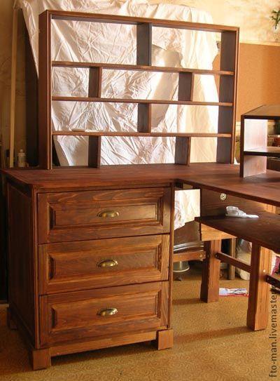 Мебель ручной работы. Ярмарка Мастеров - ручная работа. Купить Угловой компьютерный стол массив бука. Handmade. Компьютер