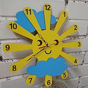 "Часы ручной работы. Ярмарка Мастеров - ручная работа Часы ""Солнышко"". Handmade."