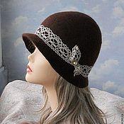 """Аксессуары handmade. Livemaster - original item wool hat """" Latte"""". Handmade."""