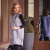 Одежда ручной работы. Ярмарка Мастеров - ручная работа Валяное пальто - жилет серебряный дождь. Handmade.