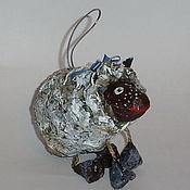 Подарки к праздникам ручной работы. Ярмарка Мастеров - ручная работа Овечка. Елочные игрушки из папье-маше. Handmade.