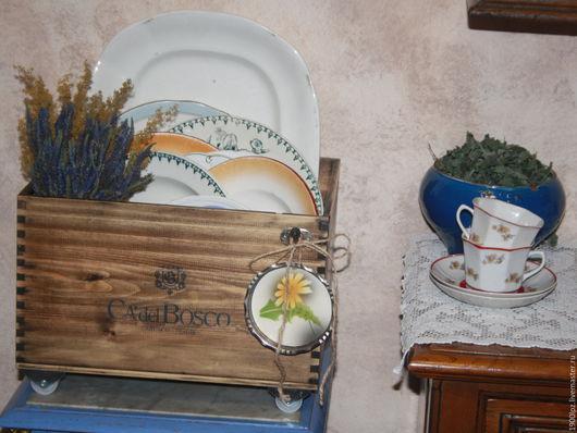 """Кухня ручной работы. Ярмарка Мастеров - ручная работа. Купить """"Лето продолжается в ящике"""" ). Handmade. Коричневый, детская библиотека"""