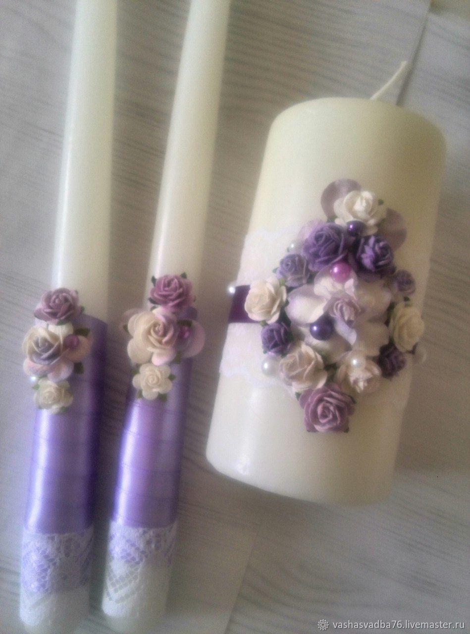 Свечи для зажжения семейного очага, Свадебные свечи, Ярославль,  Фото №1