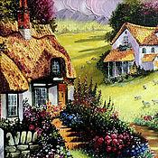 Картины ручной работы. Ярмарка Мастеров - ручная работа Картина маслом Сказочный домик. Handmade.