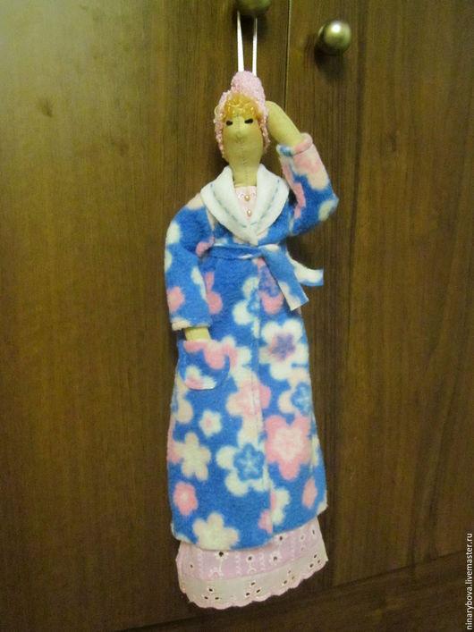 Куклы Тильды ручной работы. Ярмарка Мастеров - ручная работа. Купить Женщина в халате. Handmade. Бледно-розовый, кукла Тильда