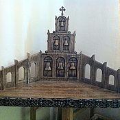 Для дома и интерьера ручной работы. Ярмарка Мастеров - ручная работа Полка угловая для икон. Handmade.