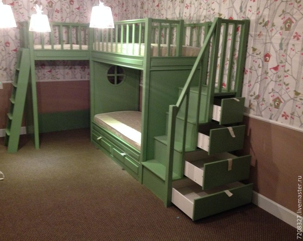 7 the bunk bed with play area shop online on livemaster for Kids bed with play area