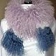 Шарфы и шарфики ручной работы. Ярмарка Мастеров - ручная работа. Купить Меховой шарф из ламы. Handmade. Сиреневый, лама