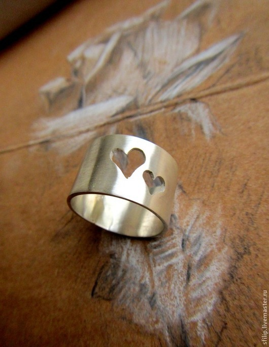 """Кольца ручной работы. Ярмарка Мастеров - ручная работа. Купить Кольцо """"Люблю""""-серебро 925. Handmade. Серебряный, сердце кольцо"""