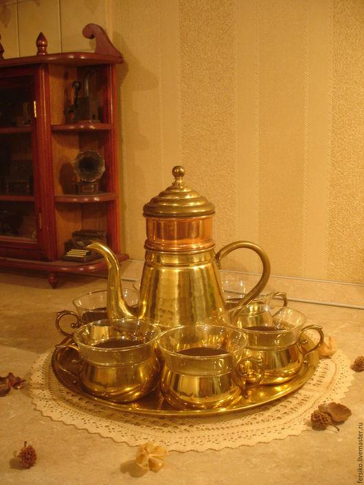 Винтажные предметы интерьера. Ярмарка Мастеров - ручная работа. Купить Старинный набор для чаепития!!!. Handmade. Старинный набор, латунный чайничек
