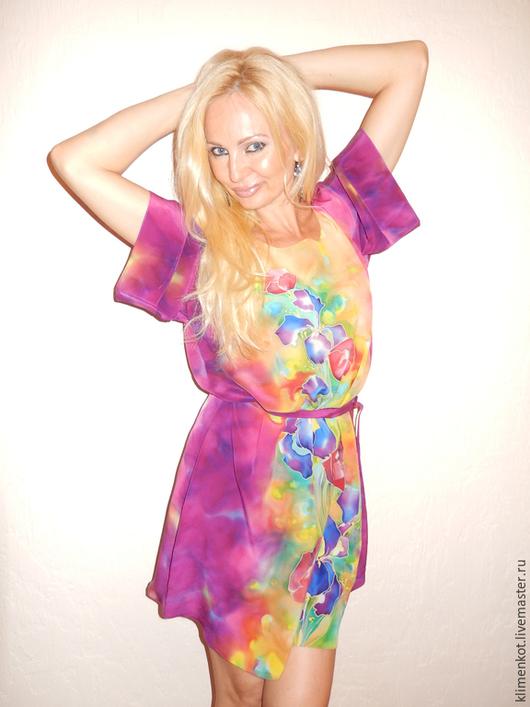 Платья ручной работы. Ярмарка Мастеров - ручная работа. Купить Платье Летний сон. Handmade. Брусничный, натуральный шелк, отдых