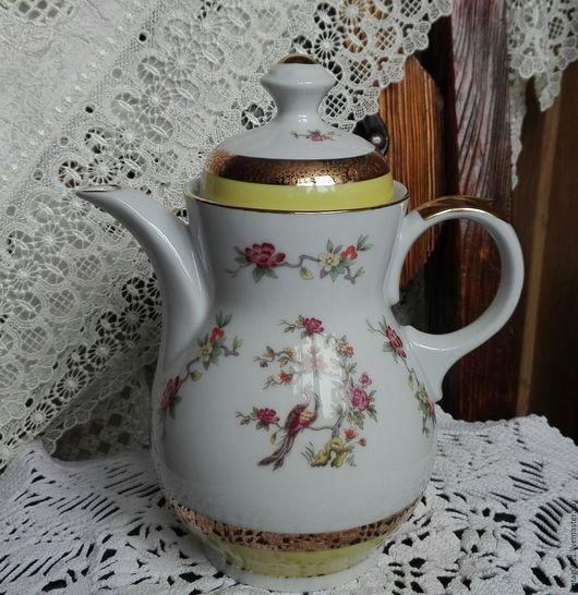 ...коллекционный фарфоровый чайник-кофейник, производства немецкой фабрики SPЕ, времен СССР... ..состояние - идеальной сохранности!!!