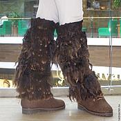"""Обувь ручной работы. Ярмарка Мастеров - ручная работа Гетры валяные """"Йетиии"""". Handmade."""