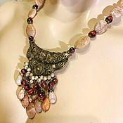 Украшения handmade. Livemaster - original item Necklace with pearls and Olympism