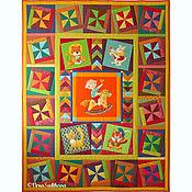 Для дома и интерьера ручной работы. Ярмарка Мастеров - ручная работа Детское лоскутное одеяло покрывало ВСАДНИК. Handmade.