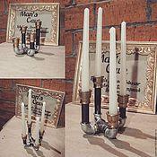 Для дома и интерьера ручной работы. Ярмарка Мастеров - ручная работа подсвечники из водопроводных труб. Handmade.