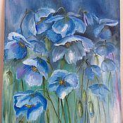 Картины и панно ручной работы. Ярмарка Мастеров - ручная работа Голубое настроение. Handmade.