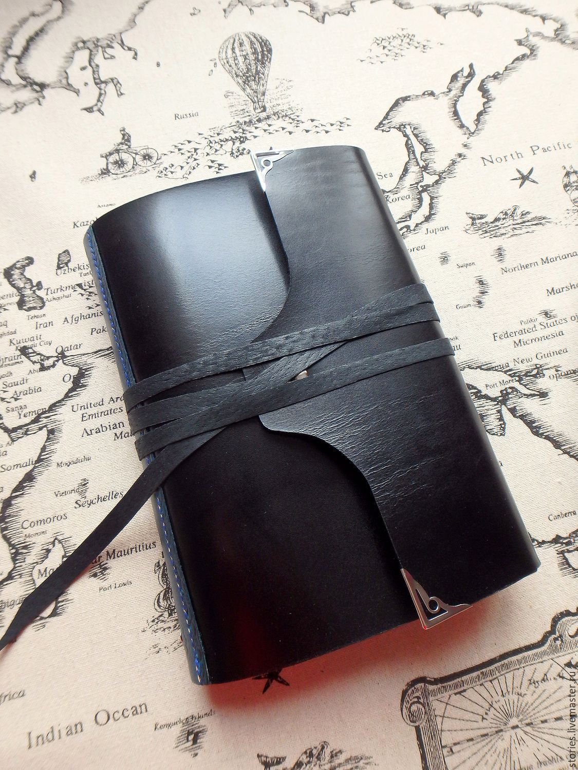 Ring notebook, A5 leather notebook, gift for a man, Notebooks, Dubna,  Фото №1