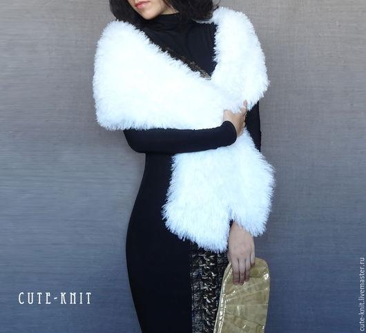 Чтобы лучше рассмотреть модель, нажмите на фото CUTE-KNIT Ната Онипченко Ярмарка мастеров Купить свадебную накидку белую