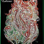 Панно ручной работы. Ярмарка Мастеров - ручная работа Картина «Собака». Handmade.