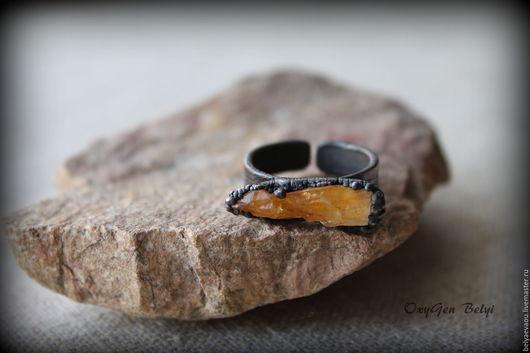 Кольца ручной работы. Ярмарка Мастеров - ручная работа. Купить Кольцо Оранж Orange Оранжевый Рыжий Медное кольцо. Handmade.