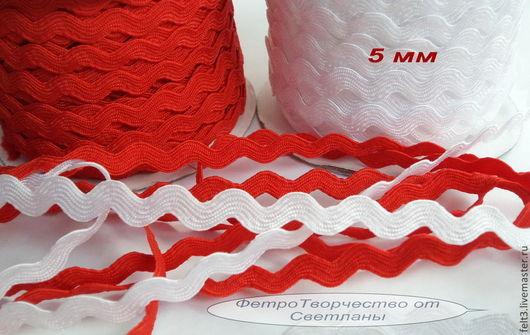 """Другие виды рукоделия ручной работы. Ярмарка Мастеров - ручная работа. Купить Тесьма """"Зиг-заг """" 5 мм . 2 ЦВЕТА .. Handmade."""