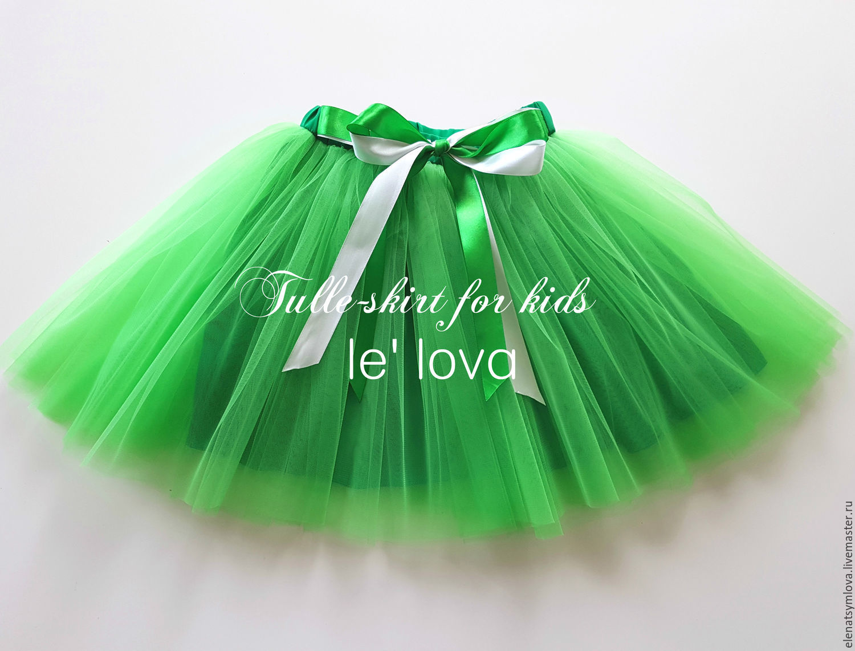 Детская юбка-пачка из еврофатина цвет Яблоневый сад, Юбка, Москва,  Фото №1