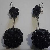 Винтаж handmade. Livemaster - original item EARRINGS CZECH GLASS HERETOFORE,LARGE VINTAGE 1960s CZECHOSLOVAKIA. Handmade.