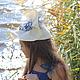 """Шляпы ручной работы. Коктейльная шляпка """"Les Roses en Denim"""" (Джинсовые розочки). Наталья Прокофьева (la-magie-spb). Ярмарка Мастеров."""
